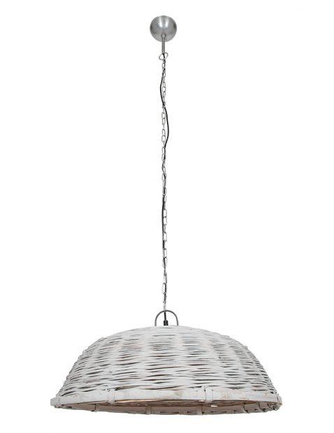 Rieten hanglamp mand-