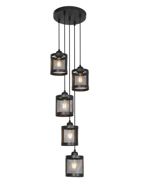 Vijflichts kooi hanglamp-