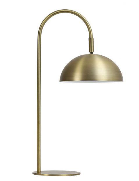 Gouden gebogen tafellamp-