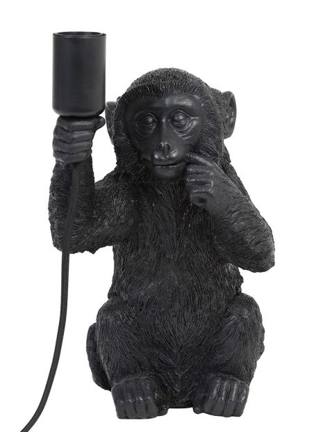 Zwarte aap lamp met fitting-