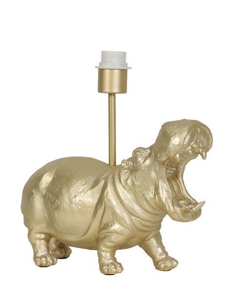 Nijlpaard voet zonder kap goud-