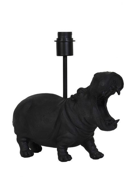 Zwart nijlpaard lampenvoet zonder kap-