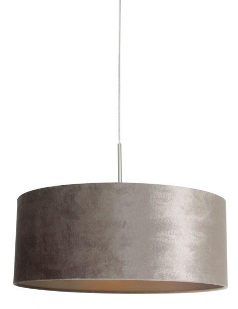 Hanglamp met ronde zilveren kap staal - 8149ST