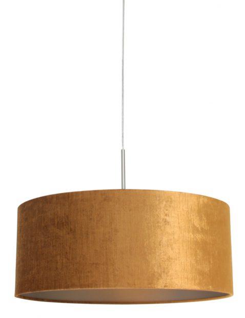 Hanglamp met rond gouden kap staal - 8150ST