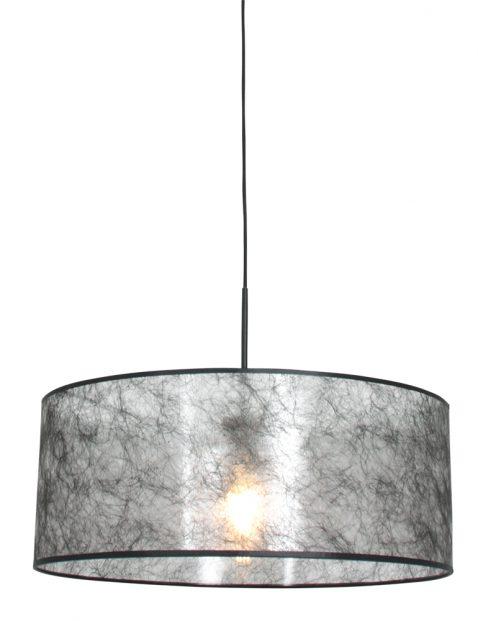 Hanglamp met zwarte sizoflor kap zwart - 8152ZW