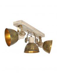 Drielichts plafondlamp met spots-2133BR