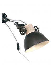 Metalen wandlamp met klem-2752A