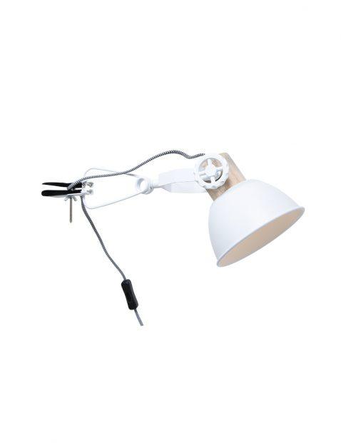 Scandinavische wandlamp met klemspot-2752W