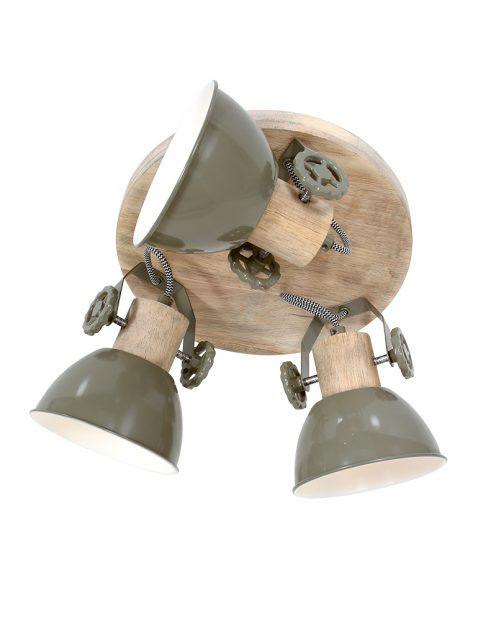 Ronde stoere drielichts plafondlamp-3063G