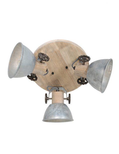 Industriële metalen drielichts plafondspot-3063NI