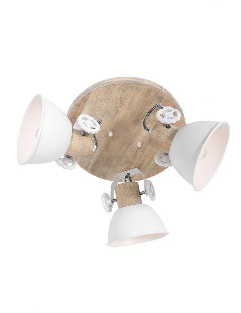Drielichts houten plafondlamp-3063W