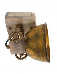 Houten plafondlamp met bronzen kap-7968BR