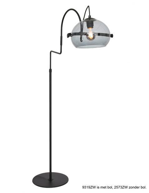Retro zwarte vloerlamp-9319ZW