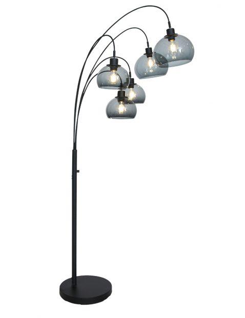 Vijflichts booglamp met plexiglas bollen-9331ZW