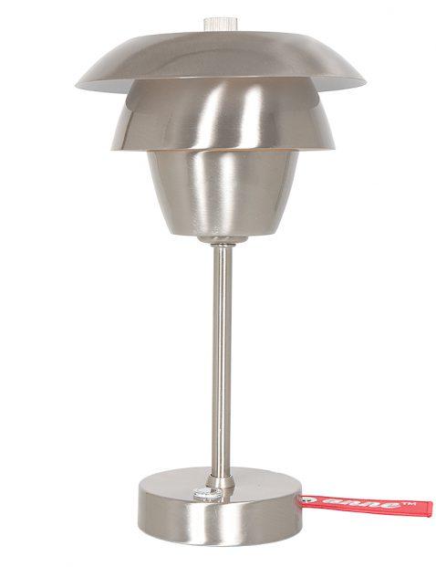 Staalkleurig Scandinavisch design tafellampje-2731ST