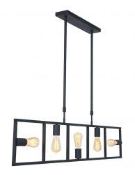 Speelse vijflichts eettafellamp-2981ZW