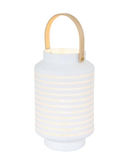 Witte lantaarn met gaatjes-3058W