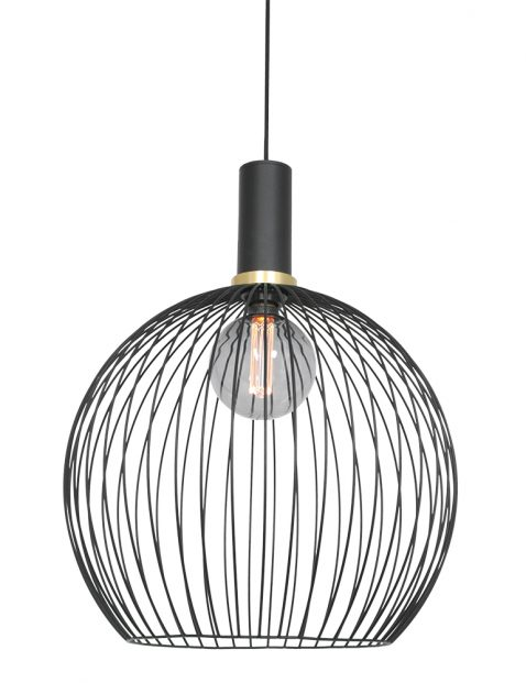 Draad bollamp met gouden details-3068ZW