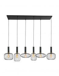 Speelse zeslichts draad eettafellamp-3072ZW
