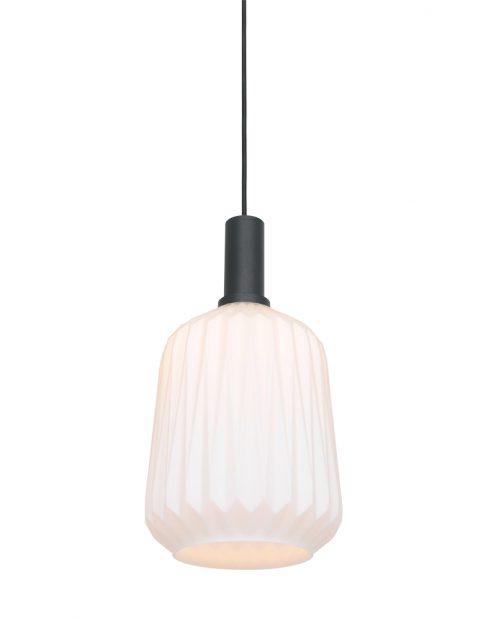 Hanglamp met relief glas-3074ZW