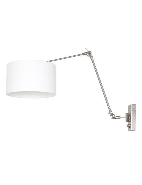 Wandlamp met linnen kap-8108ST
