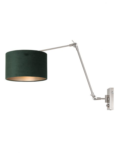 Verstelbare wandlamp met velours-8109ST