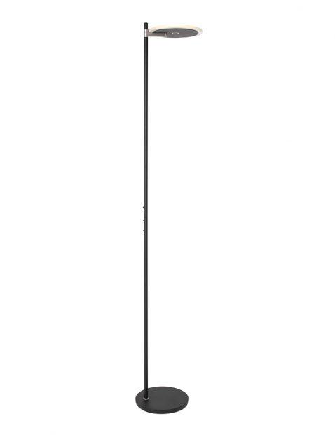 Zwarte design uplighter met glas-2992ZW