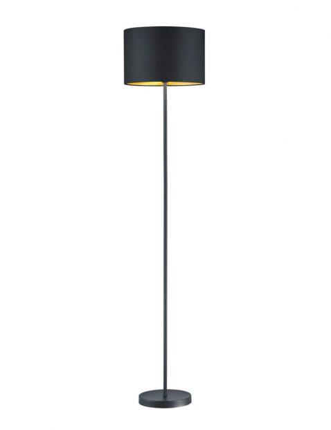 Staande schemerlamp met goud-3142ZW