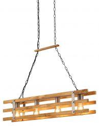 Robuuste industriële houten eettafellamp-3156ST