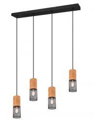 Vierlichts draad eettafellamp-3162ZW