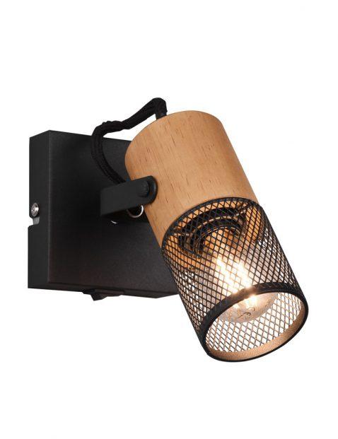 Houten spot draadlamp-3163ZW