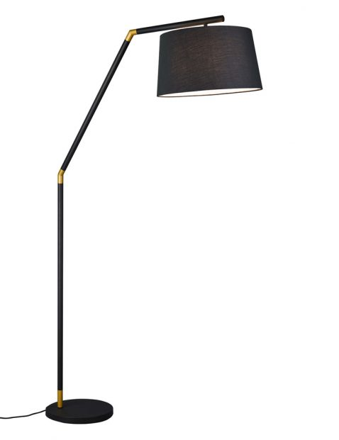 Vloerlamp met kap en goud-3178ZW