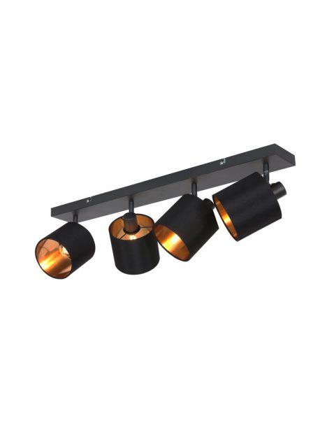 Vierlichts plafondlamp met kapjes-3188ZW