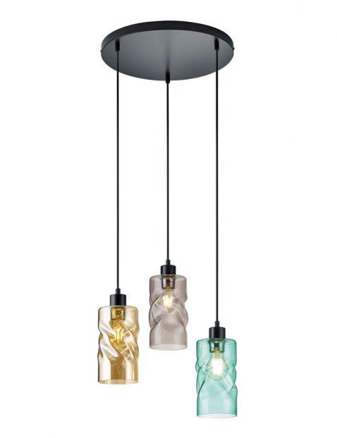 Kleurrijke drielichts hanglamp-3189ZW