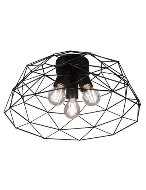 Drielichts draad plafondlamp-3191ZW
