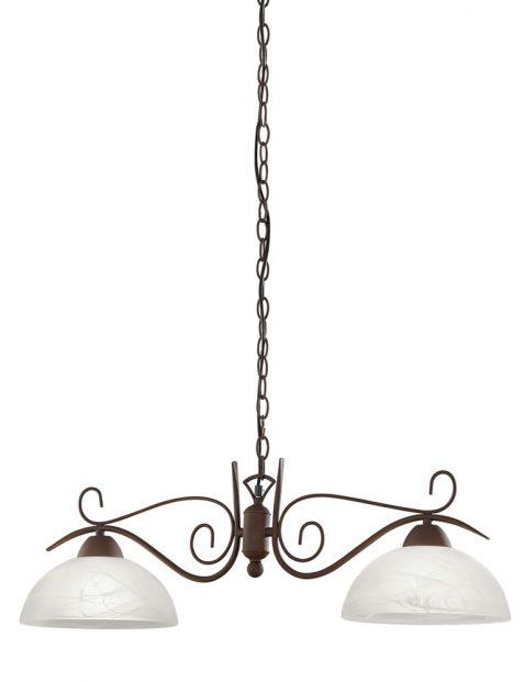 Klassieke sierlijke tweelichts eettafellamp-3192B