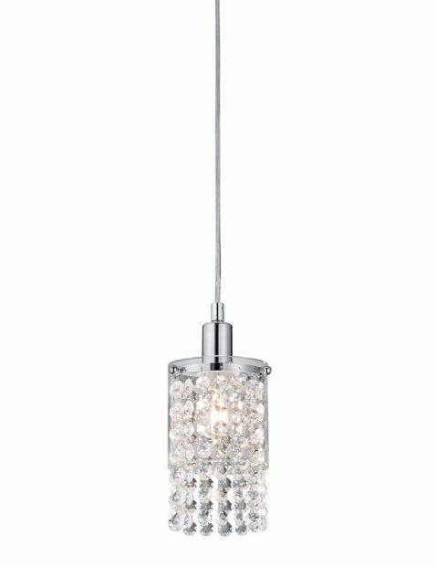 Hanglamp met glazen kristallen-3196CH