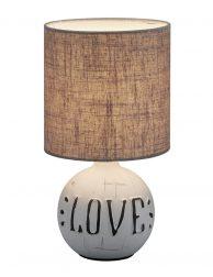 Tafellamp love met kap-3210GR