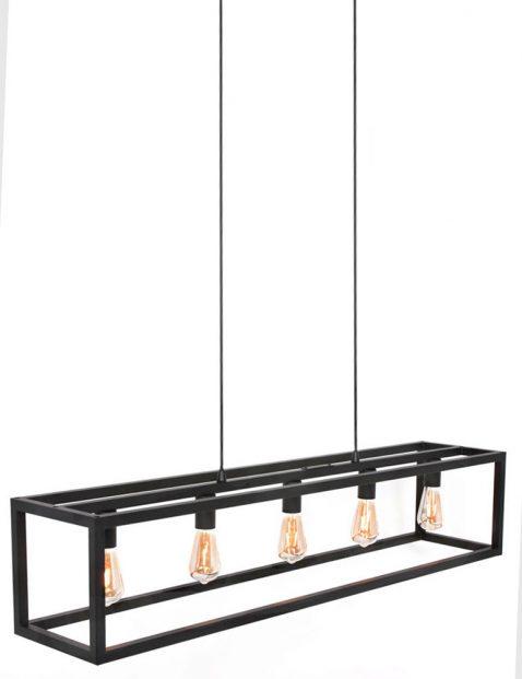 Vijflichts framelamp Freelight Esteso zwart-3261ZW