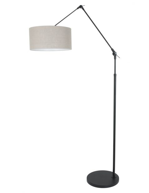 Zwarte vloerlamp met knikarm-8113ZW