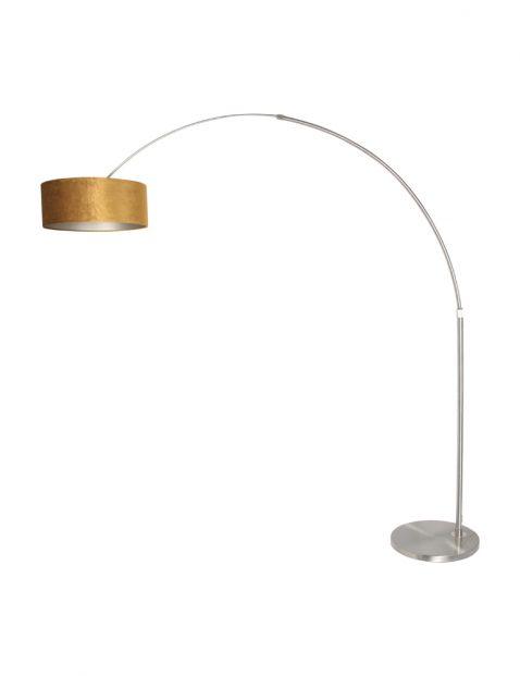 Ronde boog vloerlamp met lampenkap-8126ST