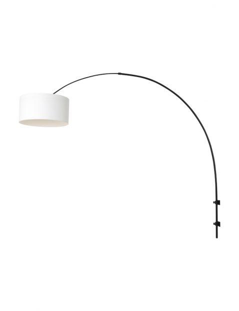 Wandlamp met linnen kap-8138ZW