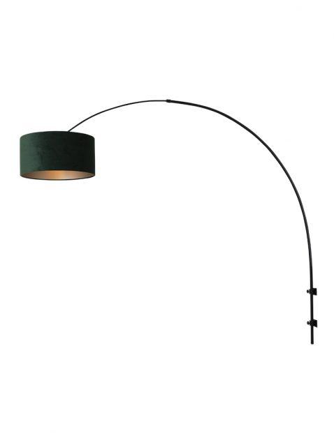 Boog wandlamp met velours-8139ZW