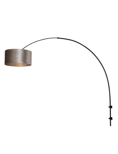 Diepe wandlamp met velours kap-8140ZW