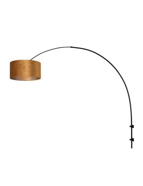 Wandlamp met gouden kap-8141ZW