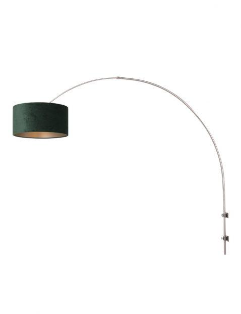 Wandlamp met velvet kap-8145ST