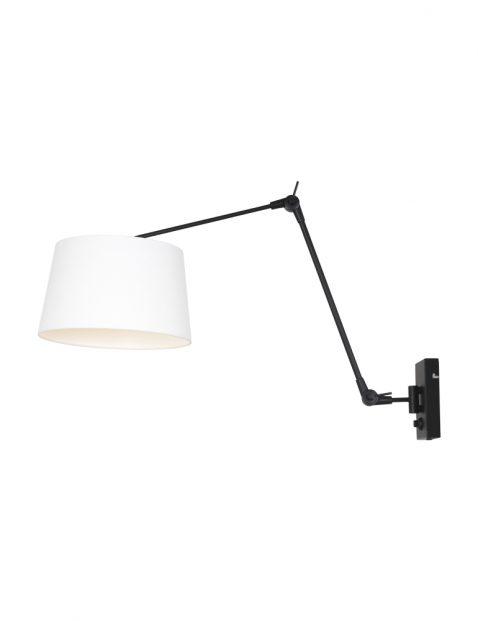 Wandlamp van metaal en linnen-8187ZW