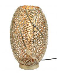 Gouden tafellamp met koraal patroon gaatjes-3236GO