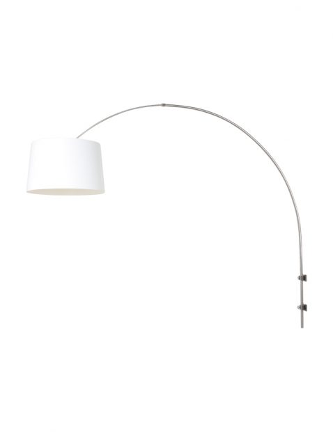 Boogwandlamp met witte kap-8197ST