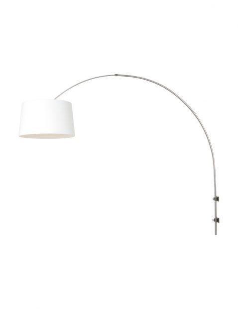 Wandlamp met boog met witte kap-8198ST